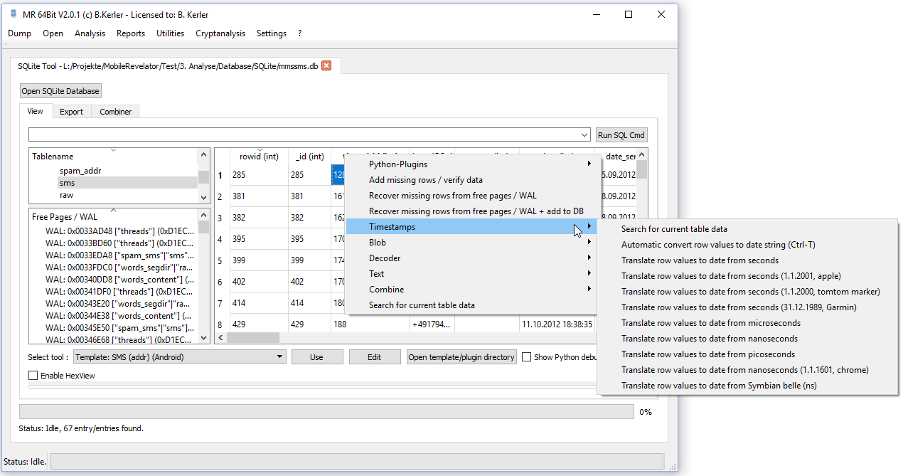 SQLite View